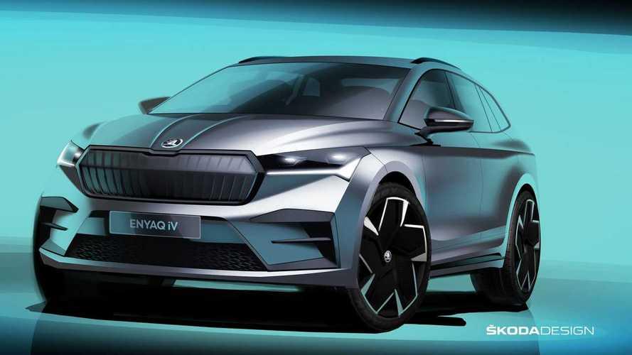 Primo do VW ID.4, Skoda Enyaq mostra visual agressivo em novas imagens