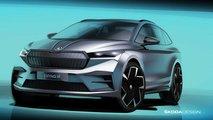 Skoda Enyaq iV (2021): Designskizzen vom Exterieur des Elektro-SUVs