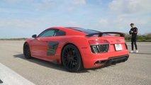 Audi R8 V10 Plus top speed test