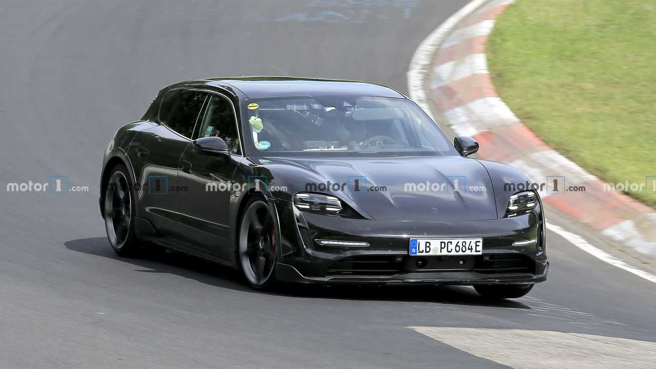 Porsche Taycan Cross Turismo Spied At Nurburgring Front Quarter