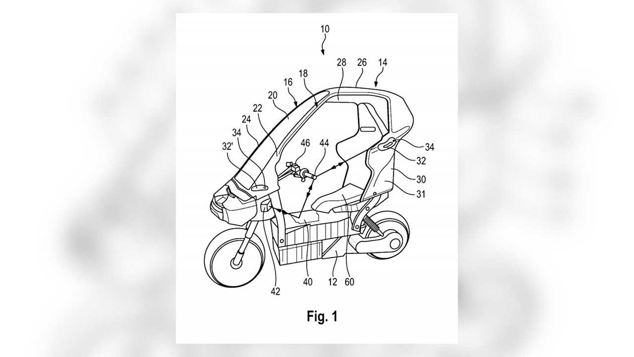 BMW Enclosed Electric Bike Roof Patent Overview