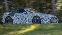mercedes sl roadster teased