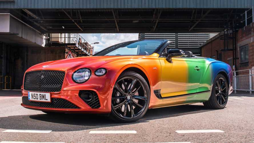Bentley Continental GT V8 Convertible Gets The Rainbow Treatment