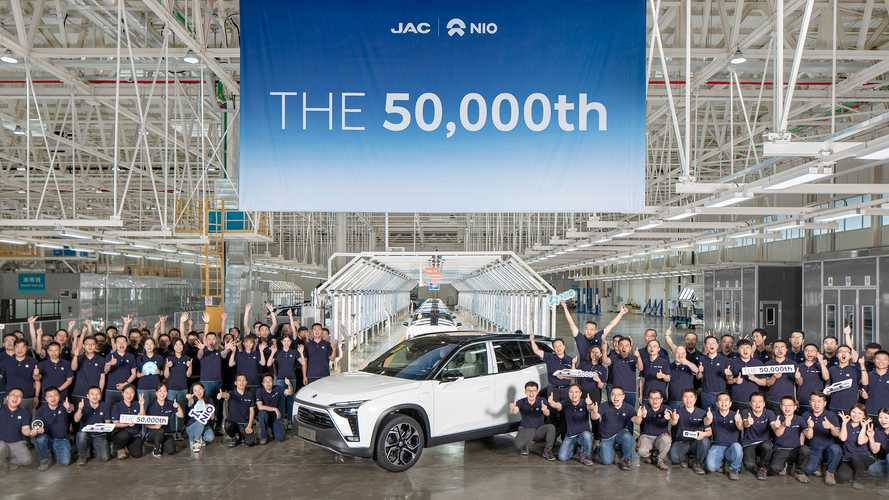NIO's 50,000th Build Rolls Off The Assembly Line At Hefei Manufacturing Plant
