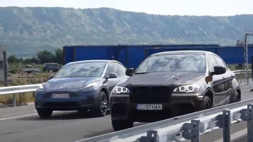 Tesla Model Y Performance encara BMW X6M de 750 cv na arrancada - vídeo