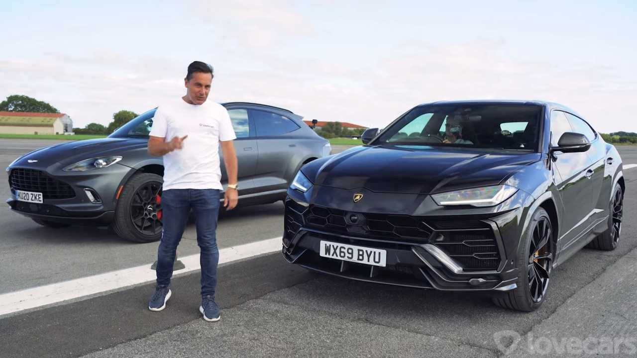 Lamborghini Urus and Aston Martin DBX drag race