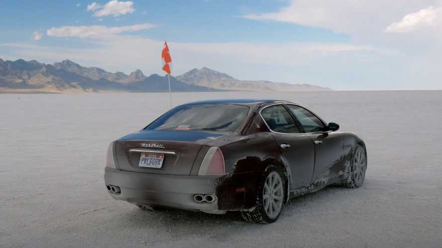 See VW Phaeton And Maserati Quattroporte Go Flat Out At Bonneville