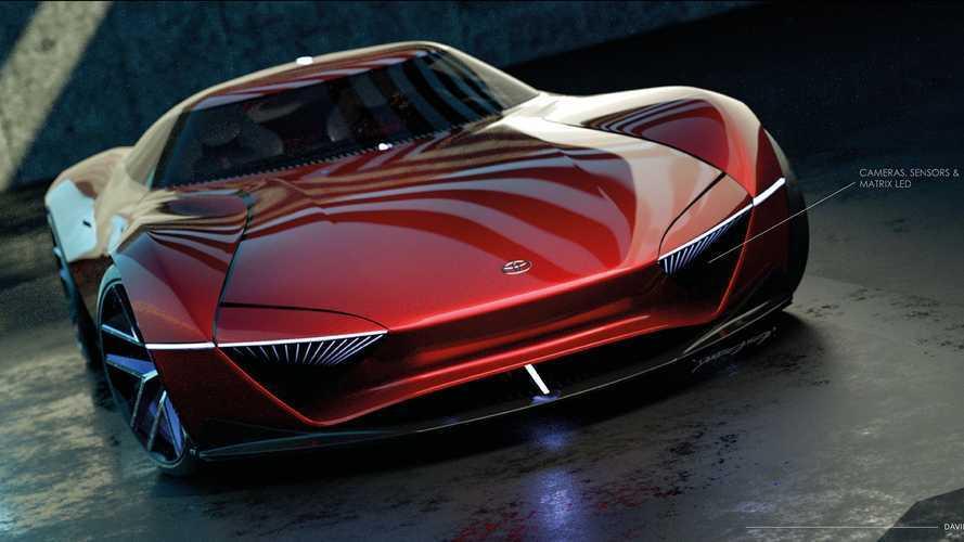 Toyota süper otomobil render'ları, 2000GT ve Supra'yı birleştiriyor
