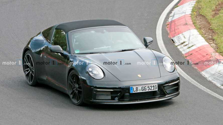 Porsche 911 GTS Targa Track Spy Photos
