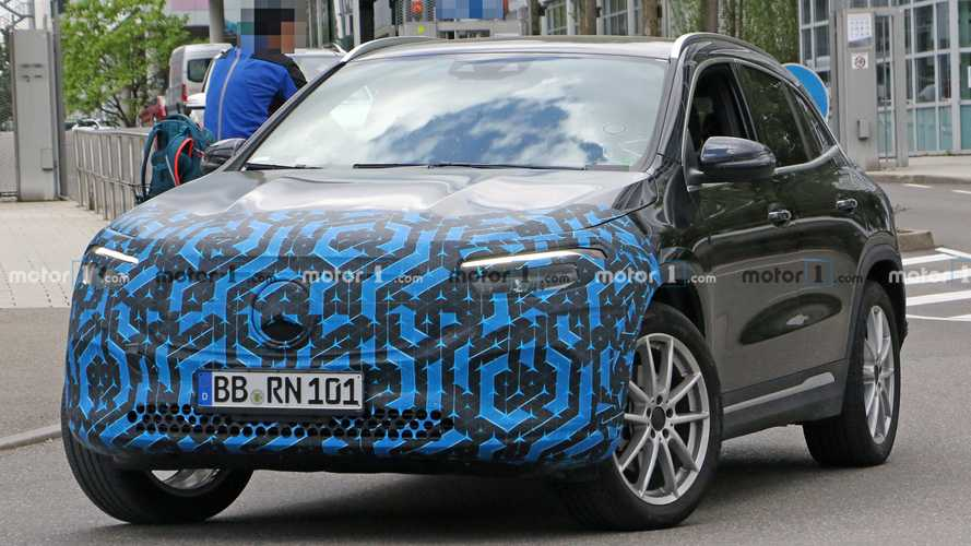 2021 Mercedes EQA Spied With Less Camo Than Before