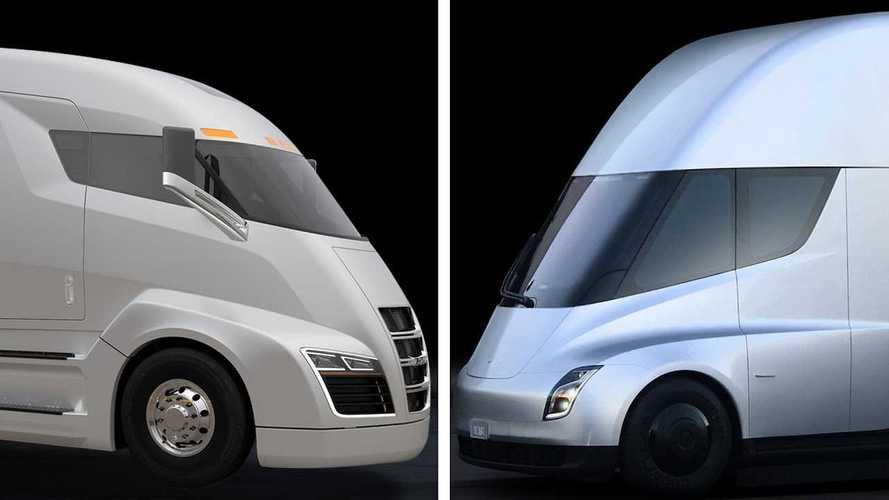 Nikola's Hydrogen Truck Vs. Tesla's Electric Semi