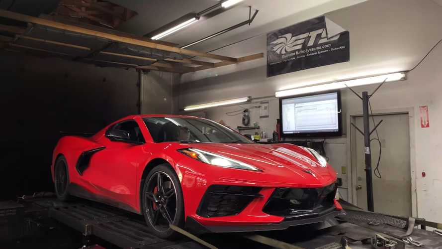 See Turbocharged Chevy Corvette C8 Make 736 Wheel HP On The Dyno