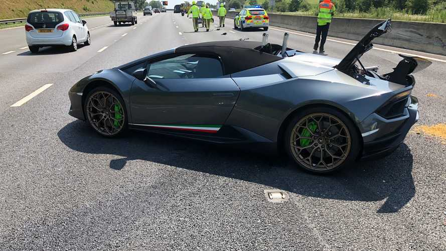 Crash Lamborghini Huracan Performante Spyder