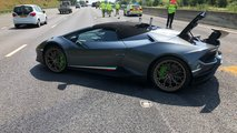 Lamborghini Huracan Performante Spyder crash