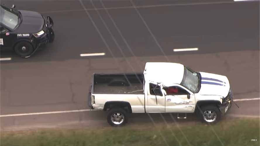 This Chevy Pickup Rolls During Police Chase And Keeps On Going