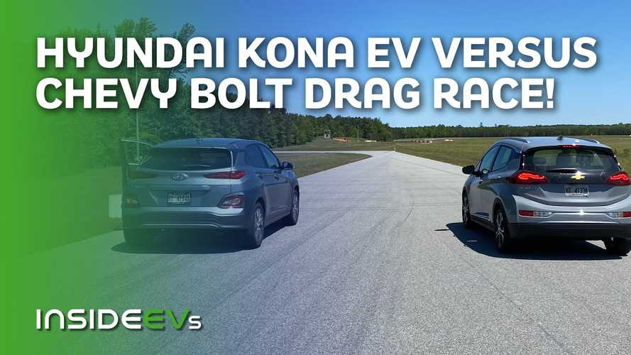 Watch 2020 Chevy Bolt EV Race 2020 Hyundai Kona Electric