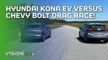 chevy bolt hyundai kona electric drag race