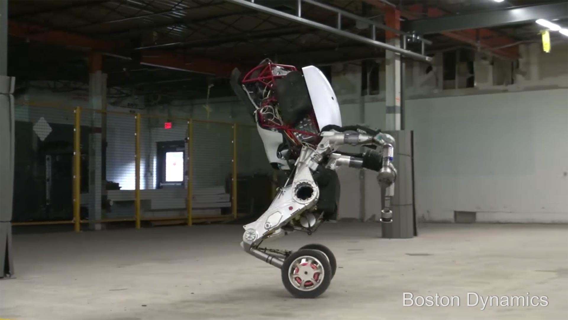 Boston Dynamics Rolling Robot Is The Envy Of All Rollerbladers