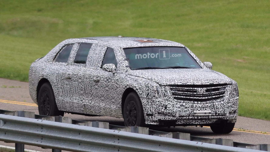 New Cadillac Presidential Limo Spy Photos