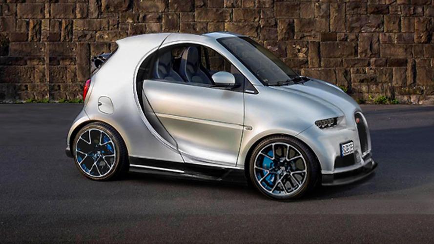 Une Smart Fortwo ? Une Bugatti Chiron ?