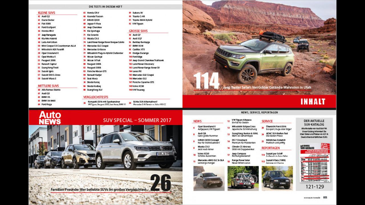 Das neue AutoNEWS SUV Special 2017 ist da