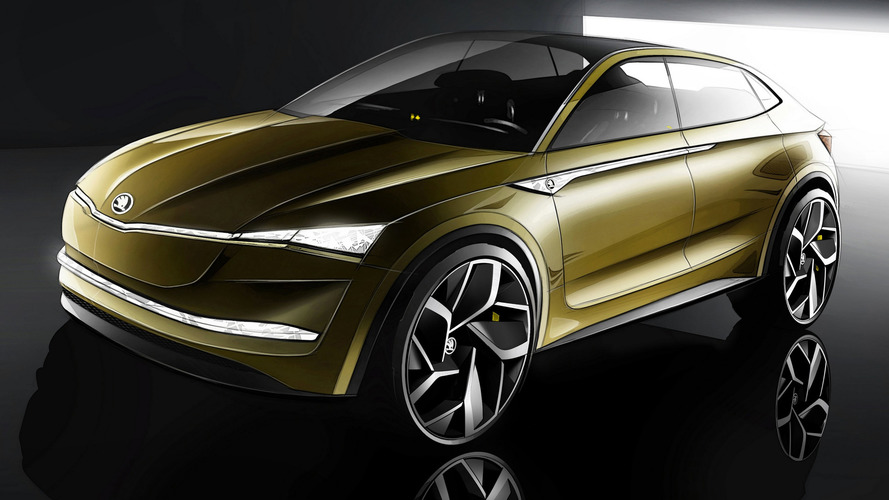 Skoda Vision E konsepti elektrikli coupe-SUV'yi işaret ediyor