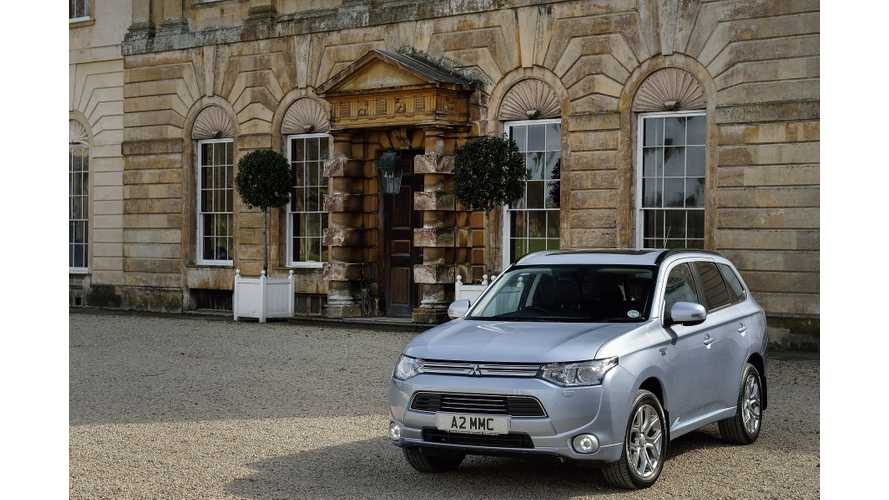 Mitsubishi Outlander PHEV Becomes UK's #1 Selling Plug-In Electric Car, Knocks Nissan LEAF To #2