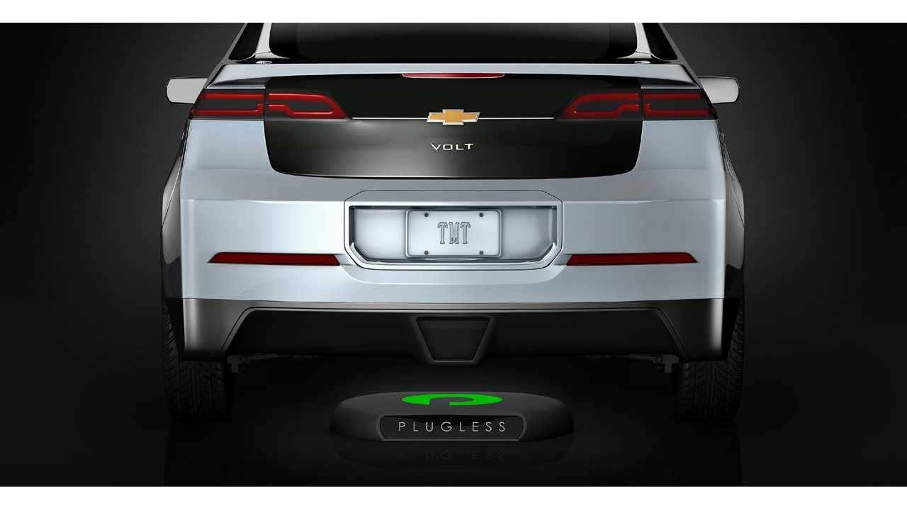 Wireless Charging Of Chevrolet Volt With Plugless - Video