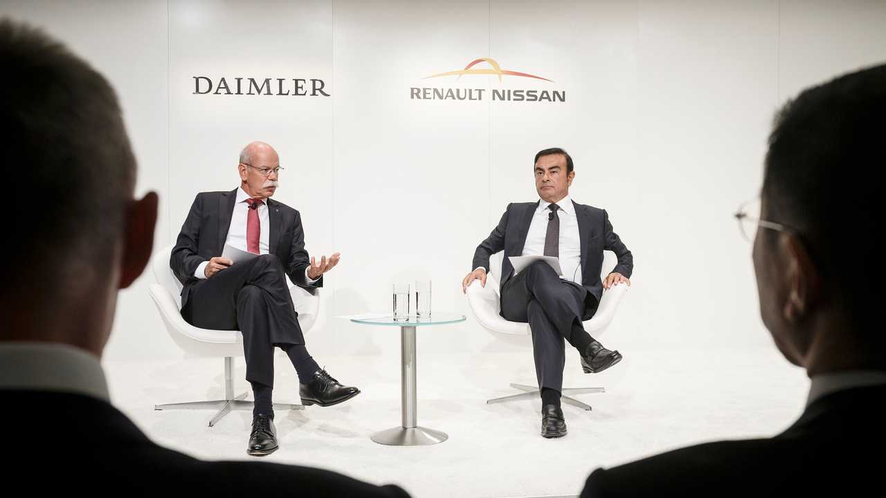Daimler's Dieter Zetsche and Renault-Nissan's Carlos Ghosn Talk The Deal From Frankfurt On Wednesday
