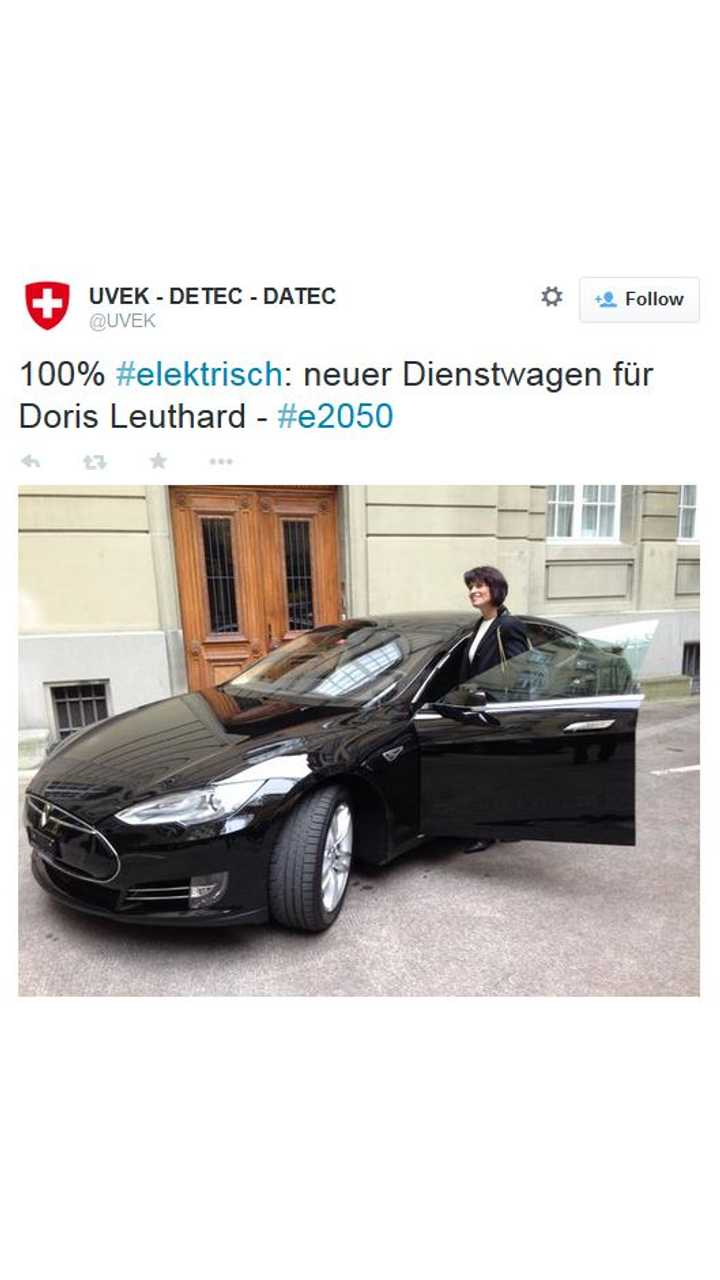 Switzerland's Minister Of Transport Takes Delivery Of Tesla Model S