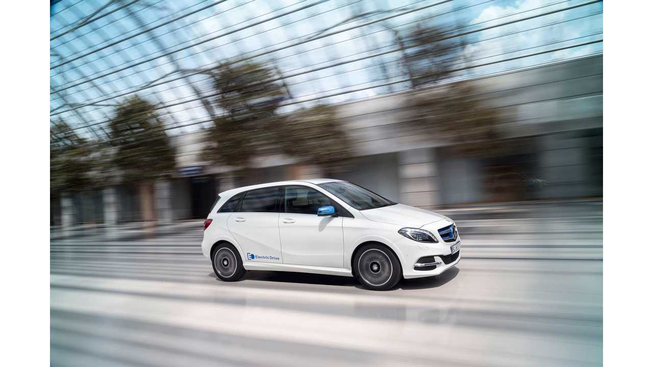 2014 Mercedes-Benz B-Class Electric Drive (W 242) cirrus white - A New B-Class Plug-In Is In The Works Too