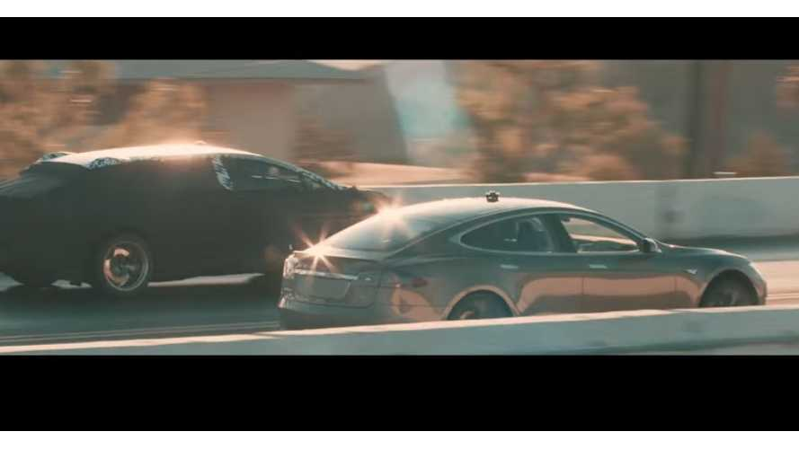 Faraday Future Prototype VS Tesla Model S P100D...and a new teaser of course (videos)
