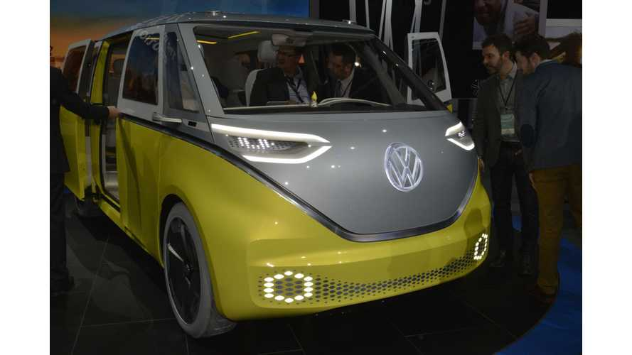 Volkswagen I.D. Buzz Electric Van: Live Images, Videos From Debut