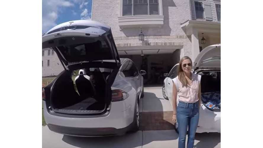 Nissan LEAF Has Way More Cargo Room Than Tesla Model X - Video