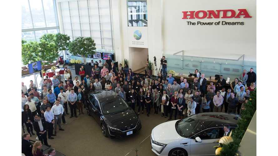First Honda Clarity Fuel Cell Cars Delivered, Next Up An All-Electric and PHEV Clarity