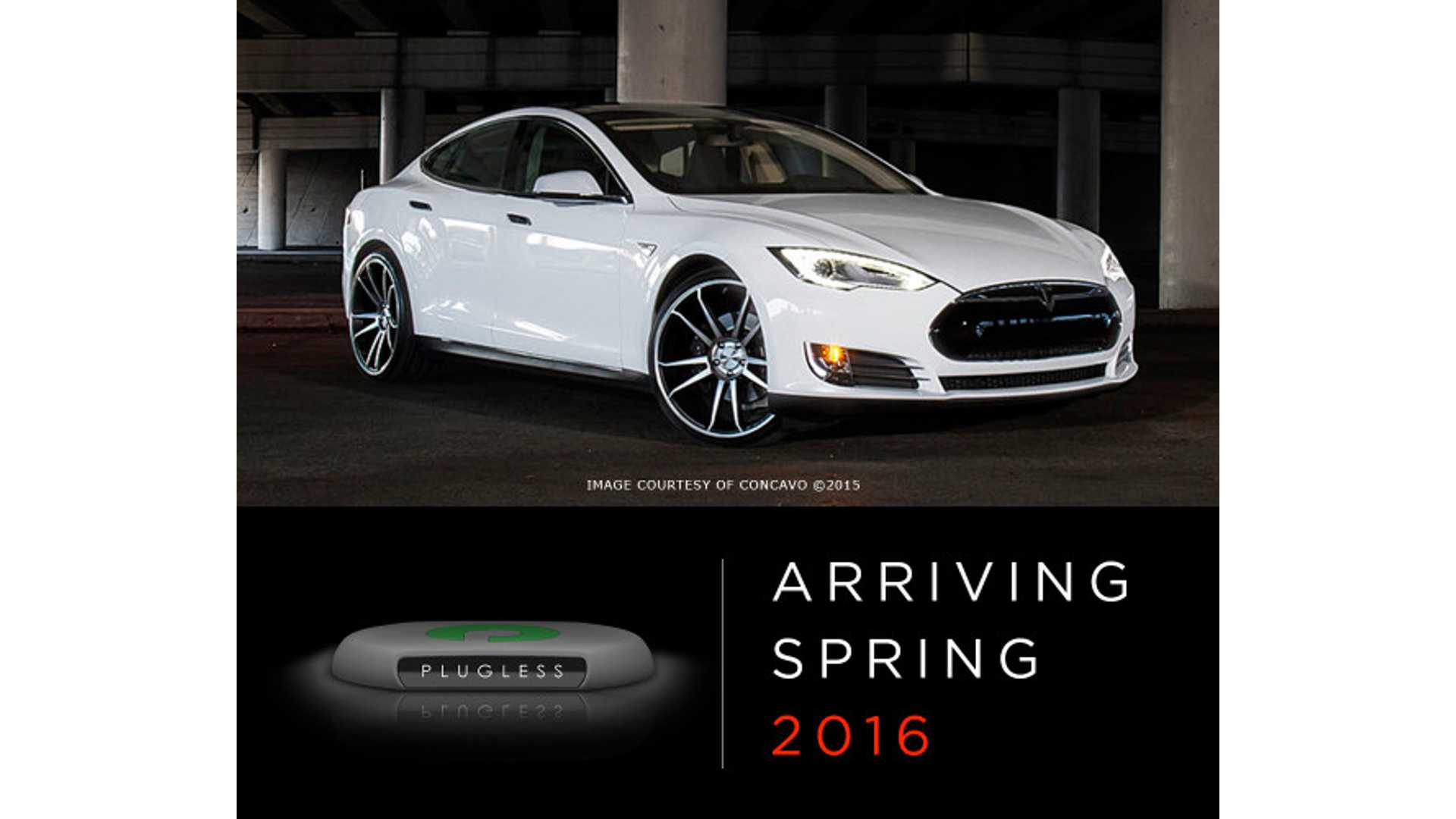 Plugless Accepting Reservations For 7 2 Kw Wireless Charging System Tesla Model S