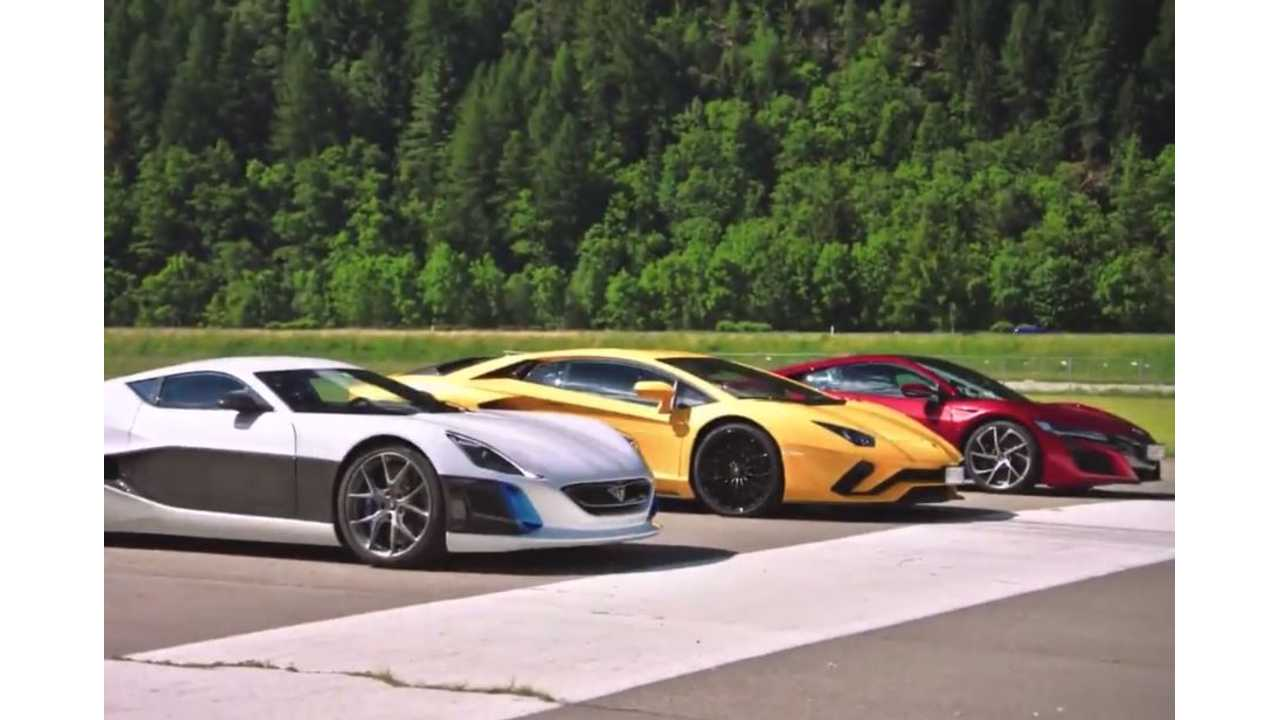 Rimac Concept_One Takes Down Honda NSX, Lamborghini In Grand Tour Season 2 - Video