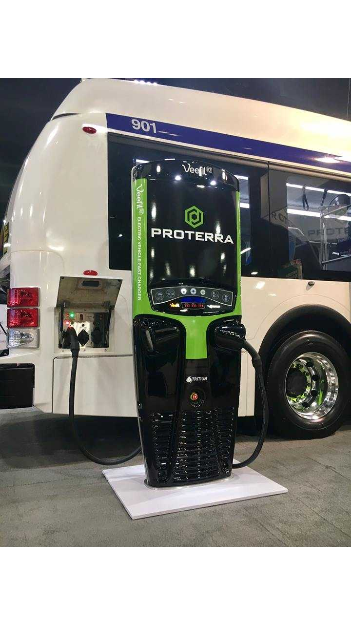 Veefil-RT DC 50kW fast charger and Proterra electric bus