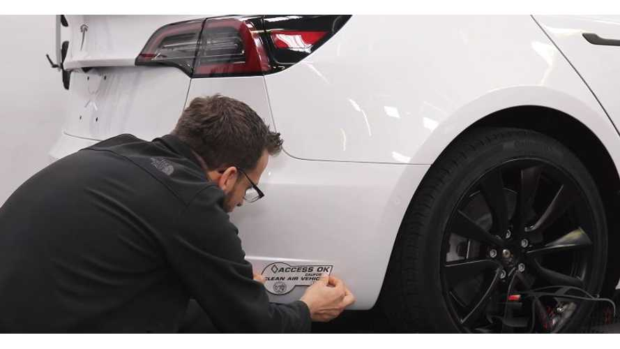 Watch How To Properly Apply HOV Stickers To Tesla Model 3