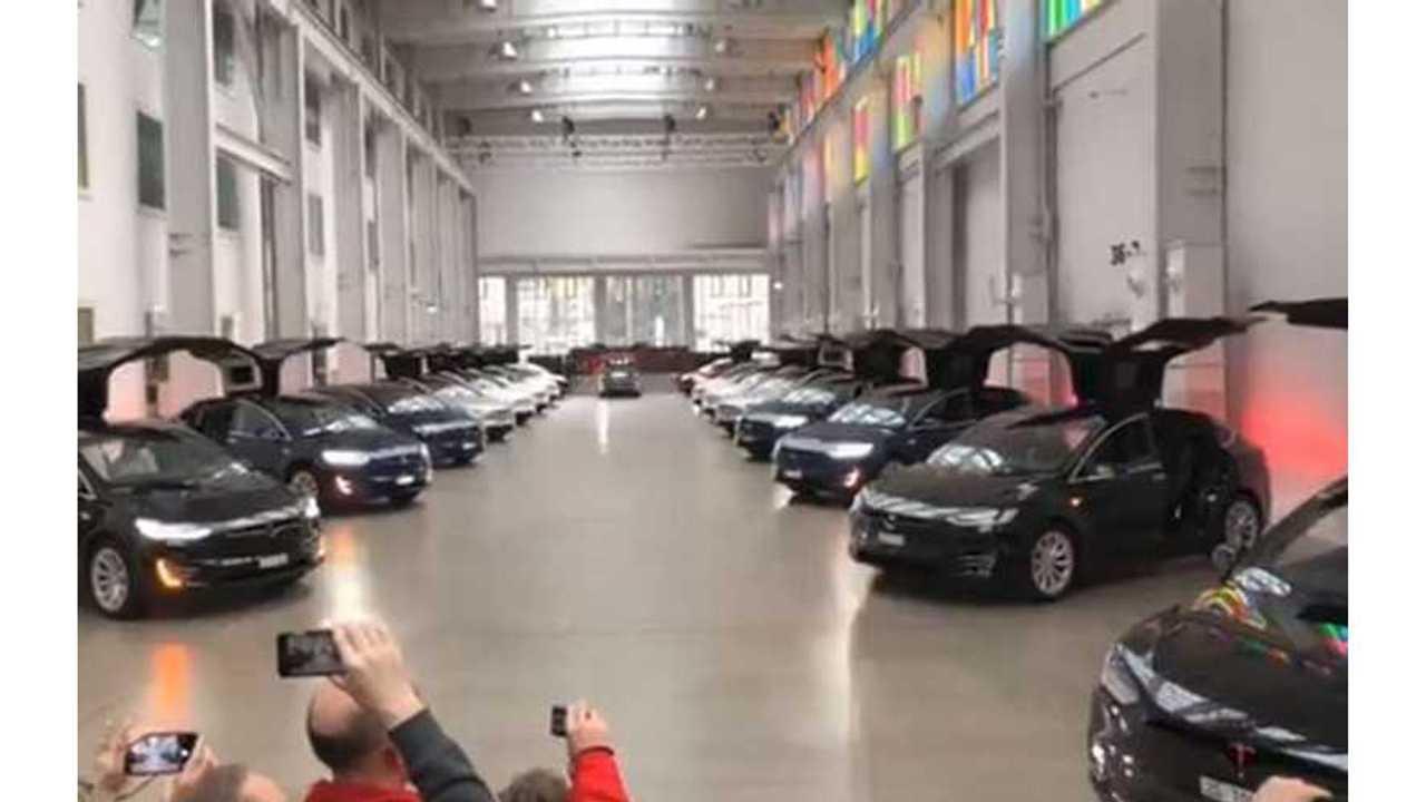 Watch Tesla Model X Flap Wings For Wedding, Plus 20