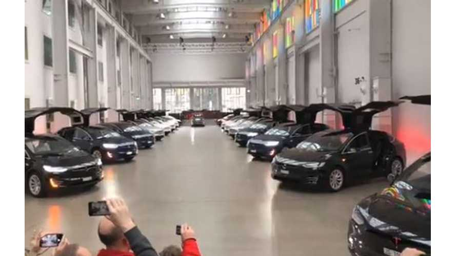 Watch Tesla Model X Flap Wings For Wedding, Plus 20