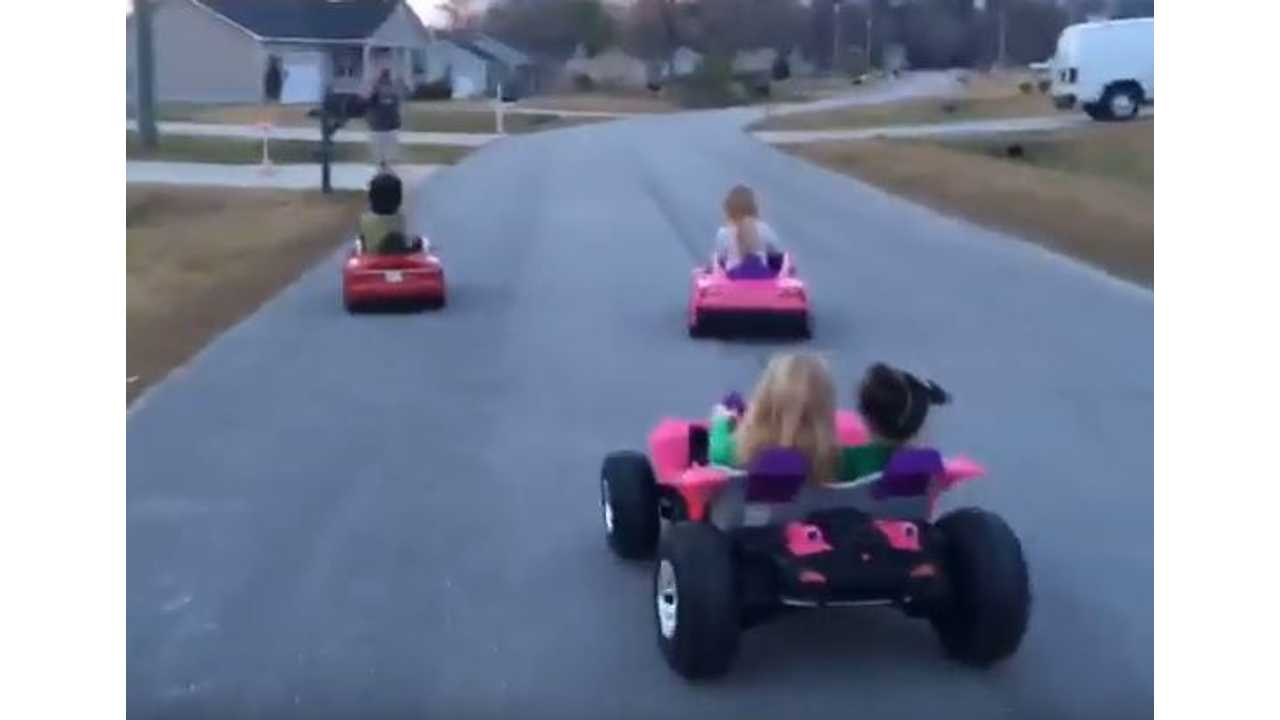Watch Tesla Model S Win This Rather Childish Race