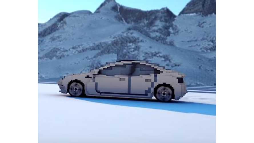 Tesla Model 3 Gets Blocky Design Via Minecraft - Video