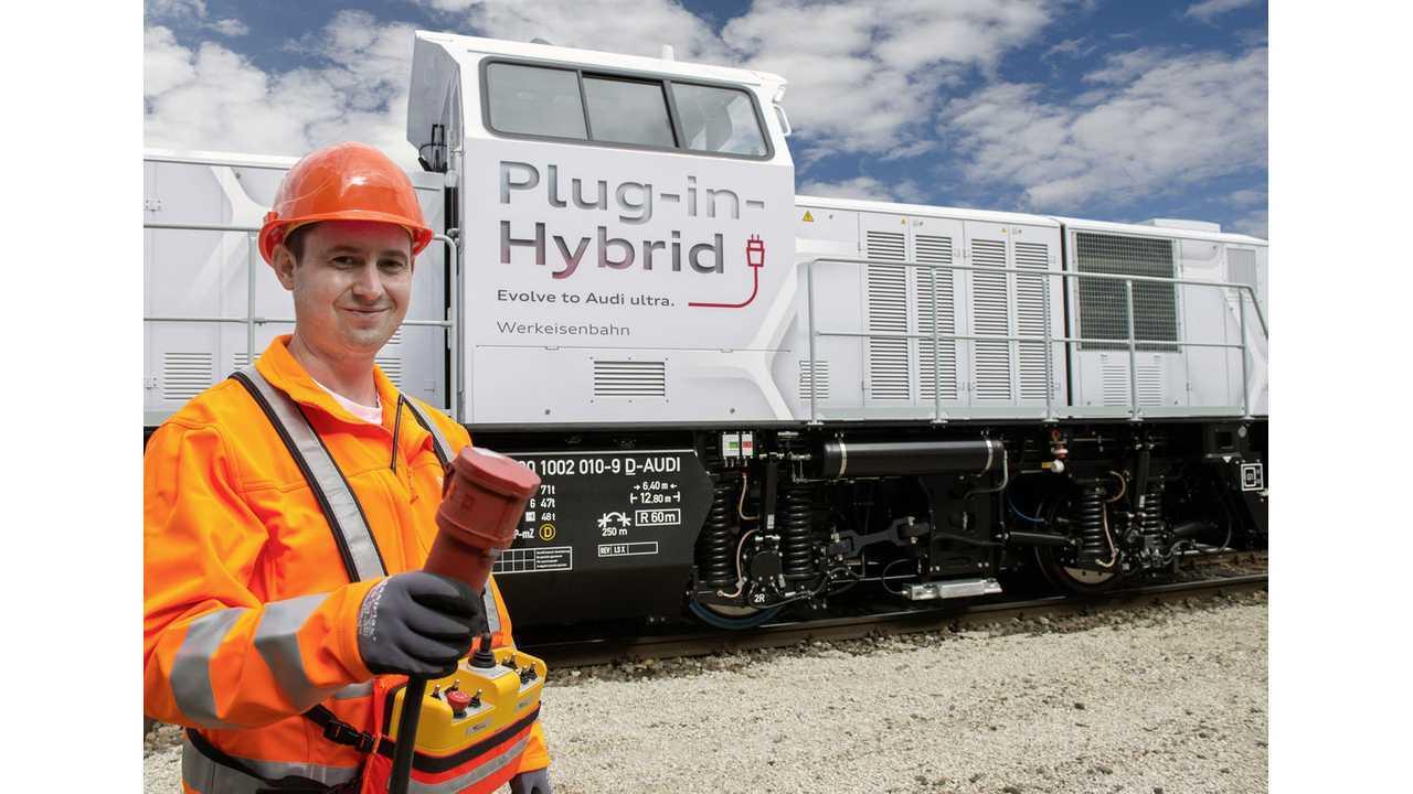Meet Audi's Plug-In Hybrid Locomotive