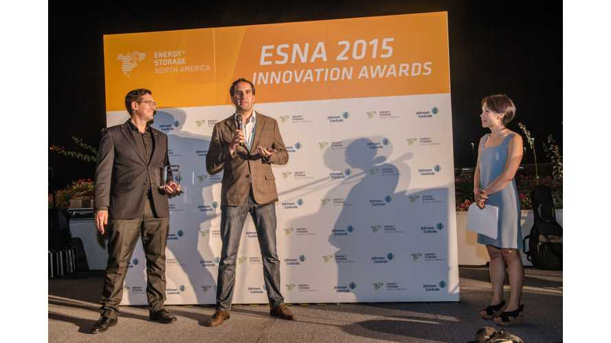 BMW Wins 2015 Energy Storage North America Innovation Award For Second-Life Battery Project
