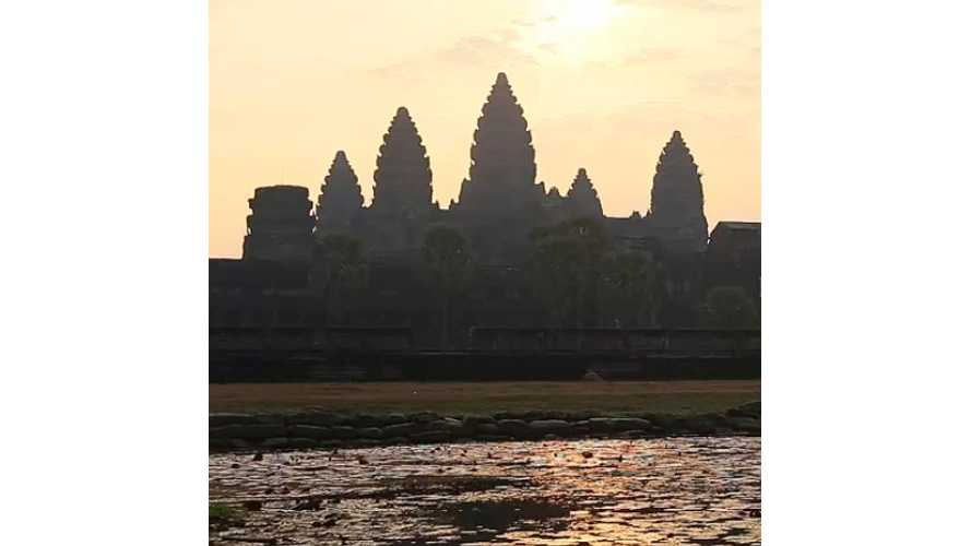 New Electric Cars To Protect 12th Century Angkor Wat - Video