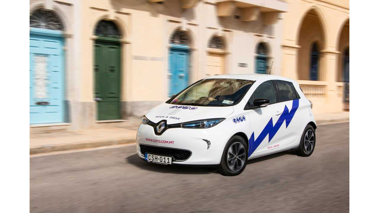 Malta's first car-sharing club - GoTo Malta - goes live with 150 all-electric Renault ZOEs