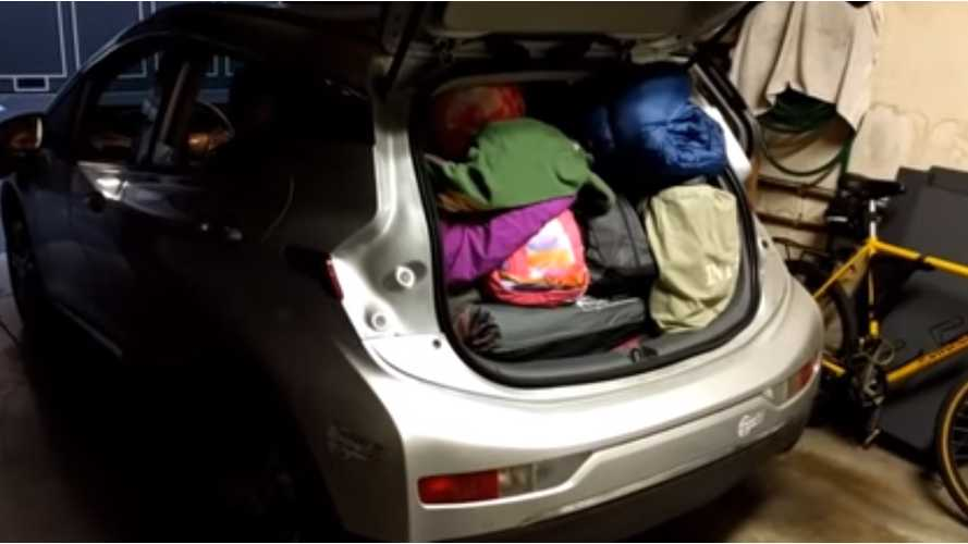 Road-Tripping & Camping With A Chevrolet Bolt, More Cargo Volume Than A Tesla Model 3 - Video