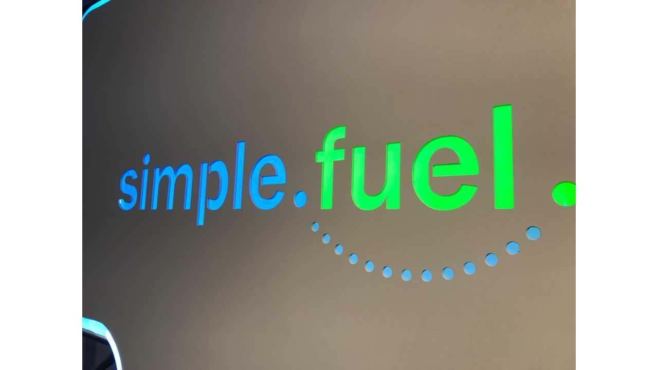 Simple Fuel hydrogen station logo