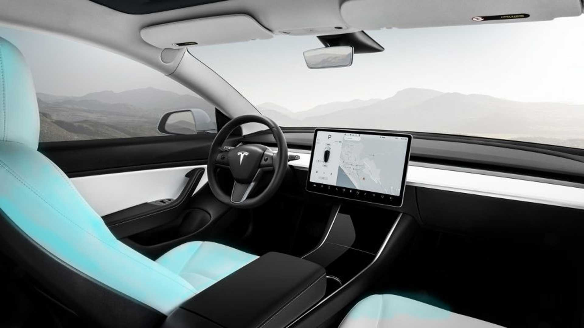 Want A Baby Blue Tesla Model 3 Interior Solution Blue Jeans Video